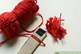 Rug Hooking With Yarn How To Cut Latch Hook Yarn 7 Steps With Pictures Wikihow