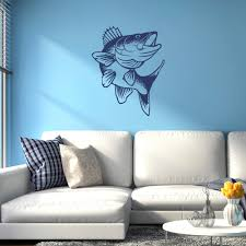 Vinyl Wall Decals Walleye Fish Vinyl Wall Decal Available In 40 Colors K660