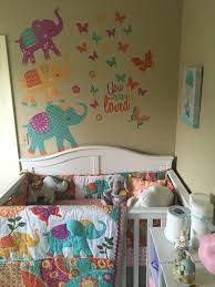elephant bedding and wall decals from toys r us elephant nursery