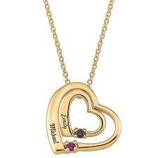birthstone gift heart birthstone necklace jewelry