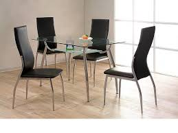 small kitchen table with 4 chairs glass chrome dining table and 4 chairs homegenies
