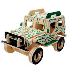 toy jeep for kids wooden 3d puzzle kids learning educational toys for children