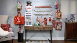 gift wrapping station at home