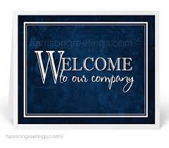 company cards welcome to our company greeting cards 1249 harrison greetings