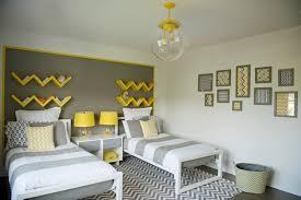 chambre ado gris décoration intérieur invitez le jaune et le gris dans l espace