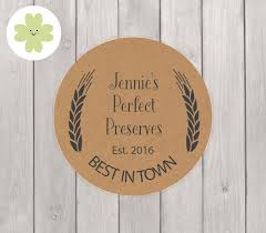 personalised pantry labels on kraft paper suitable for kitchen