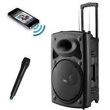 fs 4060p portable rechargeable bluetooth karaoke pa speaker system