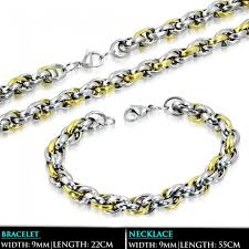 stainless steel necklace clasp images L55cm w9mm stainless steel 2 tone lobster claw clasp elliptical jpg