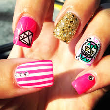 my sugar skull nails nail designs glitter diamonds skull nails