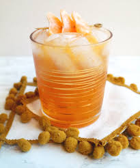 bourbon thanksgiving cocktail honey bourbon clementine fizz sequins at breakfast