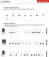 day 2 basic rhythm worksheet