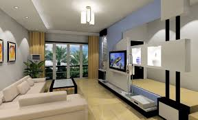 living room exquisite simple style warm tv background with