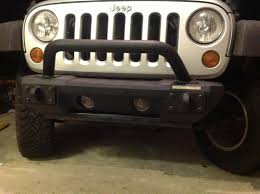 rugged ridge wrangler all terrain modular front bumper 11542 02