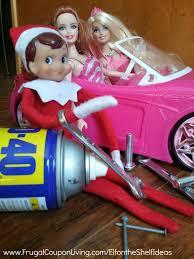 easy elf shelf ideas elf fixes barbie car