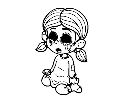 scary coloring page coloringcrew com