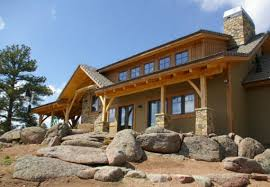 colorado cabin landscaping with boulders by zak george landscaping