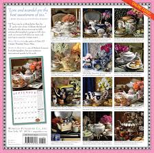 House Beautiful Editorial Calendar The Collectible Teapot U0026 Tea Wall Calendar 2017 Shax Riegler