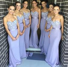 wedding bridesmaid dresses mermaid lilac bridesmaid dresses chiffon decorated with