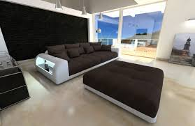 Sofa Beds Miami by Big Sectional Xxl Sofa Bed Miami With Led Lights Rgb Colour