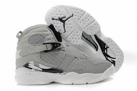 kid jordans kid viii grey and white nike basketball shoes 28154