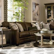 American Casual Living by Cocoa Custom Leather L Shaped Sectional