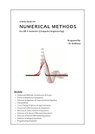 a notebook on numerical methods