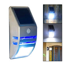 Outdoor Solar Lamp Post by Leds Outdoor Solar Motion Sensor Pir Security Wall Light Path Post