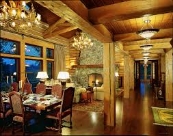 log home interior log home lighting tips