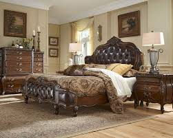 AICO Bedroom Set W Upholstered Headboard Lavelle Melange AISetL - King size bedroom sets with padded headboard