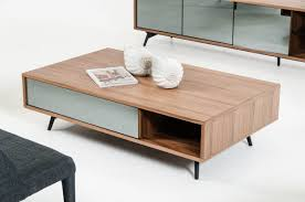 10 best collection of modern walnut coffee tables