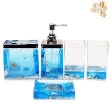 amazing ocean blue bathroom accessories interior design ideas