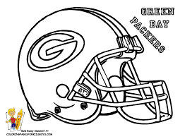Bay Packers Football Coloring Pages Book For Boys Bebo Pandco Football Coloring Page