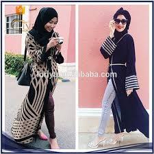 malaysia modern fashion strap pattern cardigans kimono open abaya
