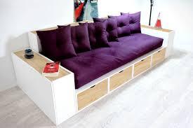 canapé couleur canapé cubes blanc tiroirs couleur avec futon et coussins abc m