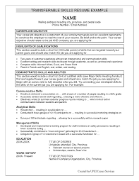 resume skills examples template design