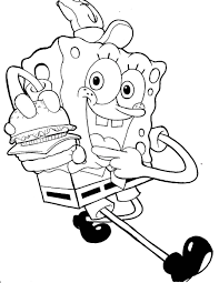 spongebob squarepants coloring pages i love you coloringstar