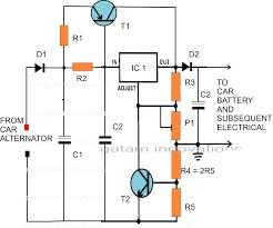 typical wiring diagram alternator and external voltage regulator