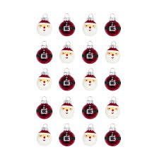 home accents holiday 1 in santa glass christmas ornament 20 pack