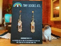 new new earrings atl products tiny doors atl
