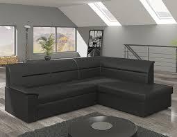 canapé lit d angle convertible canapé d angle convertible avec coffre en tissu ou pu uni