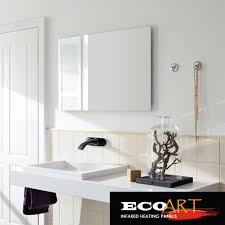 Electric Bathroom Mirrors Eco 450w Comfort Waterproof Wall Mounted Electric Radiant