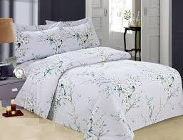deluxe french trees 8pc twin size duvet cover set elegant