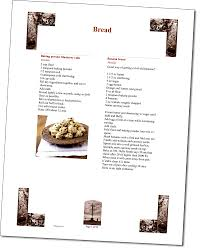 recipe section of your custom church cook book