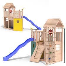 kontikineo 2 wooden playtower pirate ship climbing frame pole