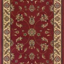Ikat Runner Rug Trafficmaster Canyon Kazmir Red 26 In X 50 Ft Roll Rug Runner