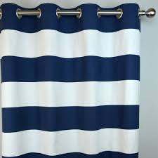 108 Drapery Panels Navy White Horizontal Stripe Curtains Cabana Grommet Top
