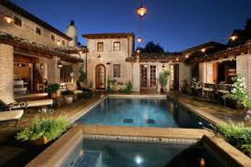 House Plans With Pools 13 Mediterranean Homes With Pools Mediterranean Swimming Pool