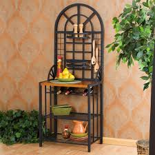 Metal Bakers Rack With Wine Storage Bakers Racks Collection The Biggest Collection Of Bakers Racks