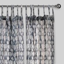 Curtains World Market Gray Lucy Crinkle Sheer Voile Cotton Curtains Set Of 2 World Market