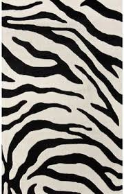 rugs usa safari contemporary zebra print with faux silk highlights